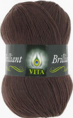 Пряжа Brilliant Vita 5115 Холодный коричневый фото