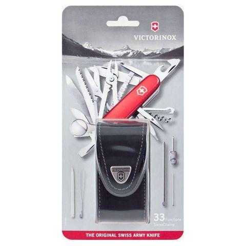 Нож перочинный Victorinox SwissChamp (1.6795.LB1) 91мм 33функций красный блистер