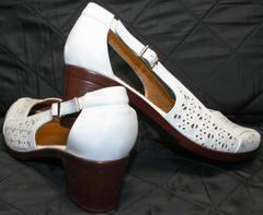 Белые женские босоножки Marani Magli 031 405 White.