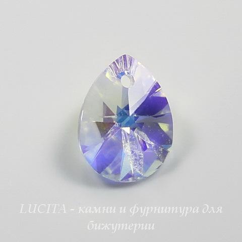 6128 Подвеска Сваровски Капля Crystal AB (12 мм) ()
