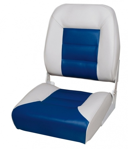 Кресло Premium High Back Boat Seat - серый/синий