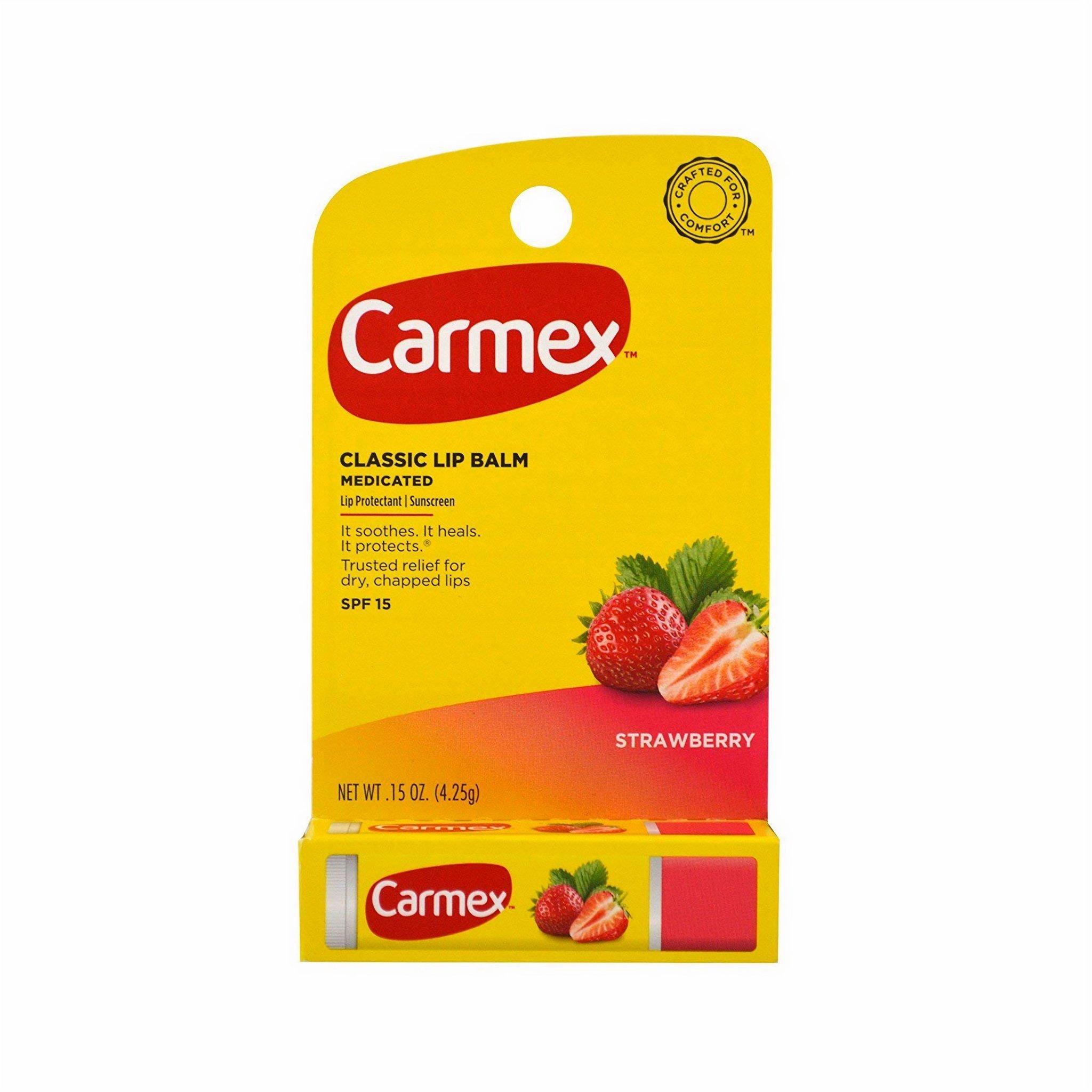 Бальзам для губ Carmex в стике Strawberry (Клубника)
