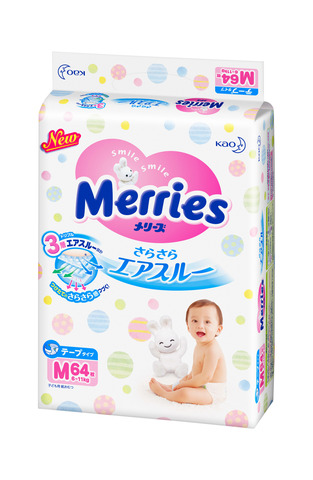Подгузники размер M 6-11 кг Merries Меррис