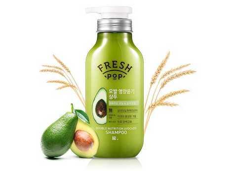 Питательный шампунь «Авокадо» для всех типов волос | AmorePacific Fresh Pop Avocado Shampo (500ml)