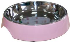 Миска на меламиновой подставке для кошек широкая 250 мл, розовая пудра, SuperDesign