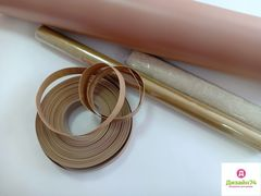 Термоусадочная труба 20/16мм песочное золото