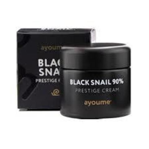 Многофункциональный крем с муцином черной улитки 90% AYOUME Black Snail Prestige Cream