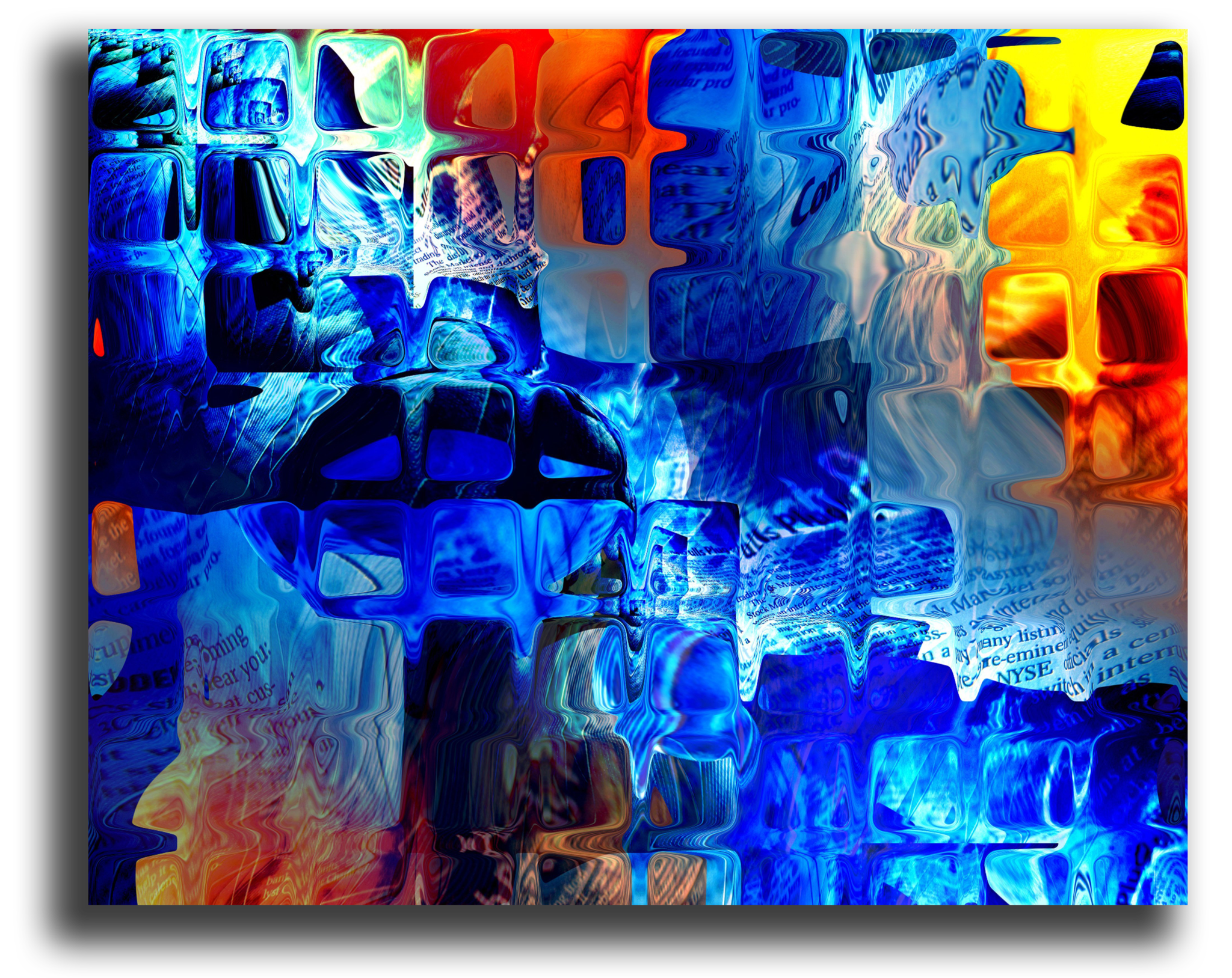 """Абстракция Постер """"Абстрактное стекло"""" п152.png"""
