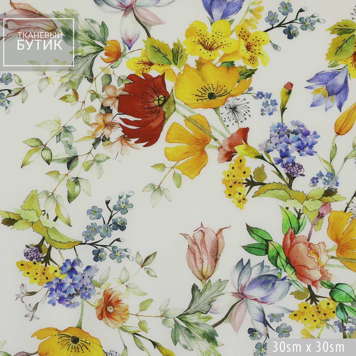 Вискоза с цветочным принтом