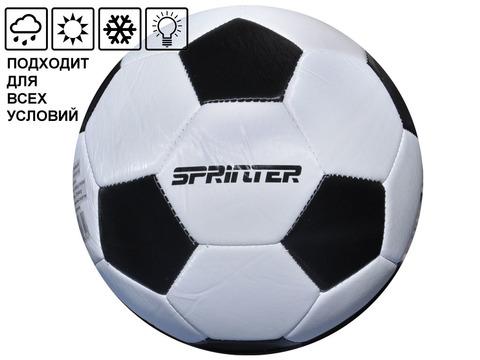 Мяч футбольный SPRINTER. Количество панелей 32 шт. Размер 5. Материал покрышки: резина. Материал камеры - латекс. FT-SP-30-HB
