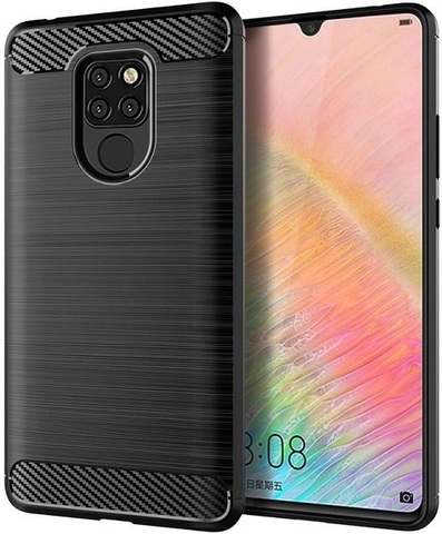 Чехол Huawei Mate 20X цвет Black (черный), серия Carbon, Caseport