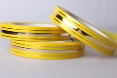 Лента с зол/пол. (2см*50ярд) Широкая з/п (классика) Желтая