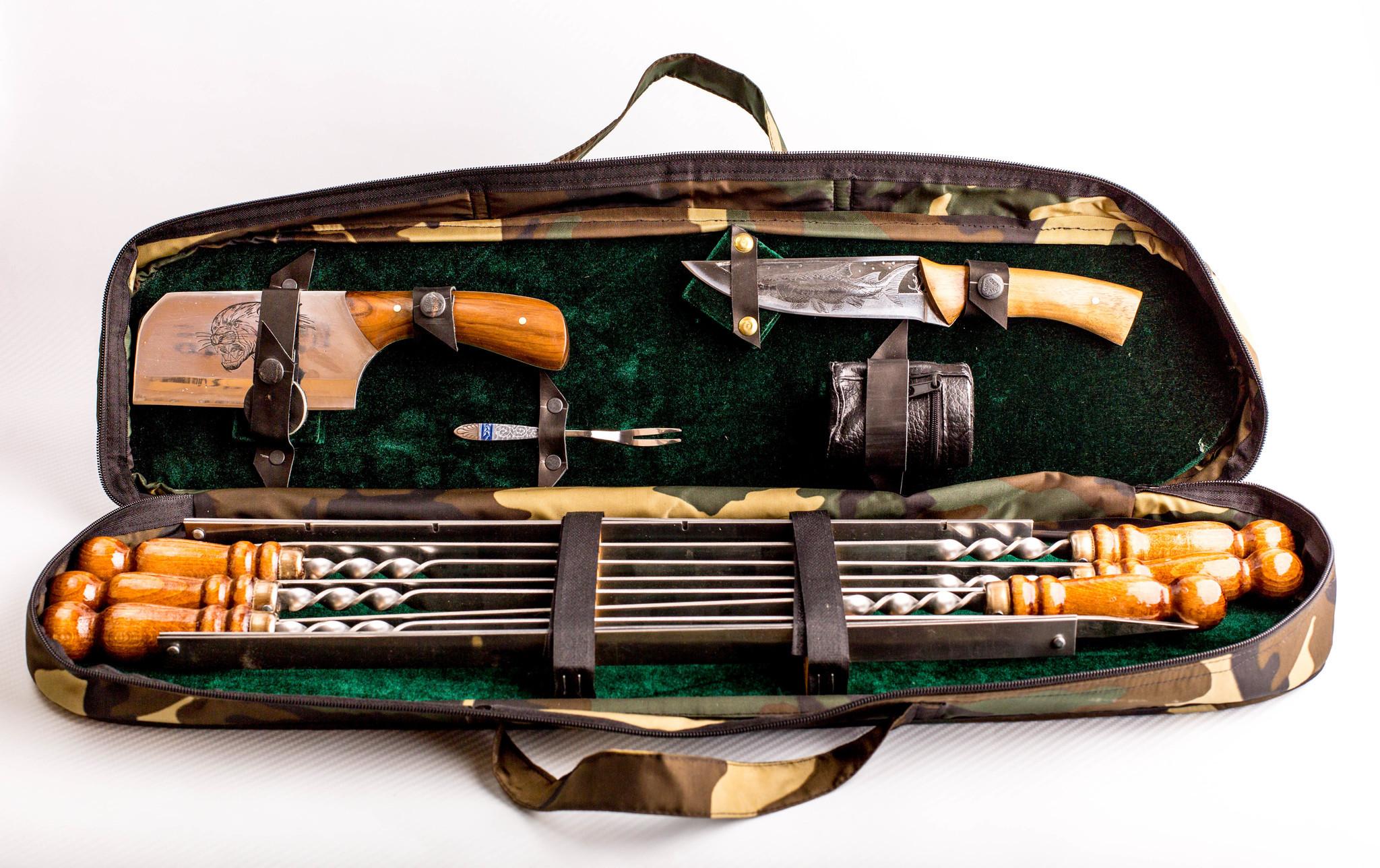 Шашлычный набор Камуфляж, Кизляр шашлычный набор царский 3 кизляр