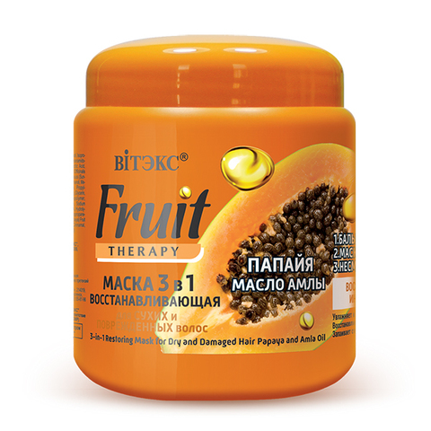Витэкс Fruit Therapy Маска восстанавливающая 3 в 1 для сухих и поврежденных волос 450мл