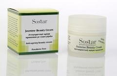 Ночной омолаживающий крем для лица с жасмином Sostar 50 мл