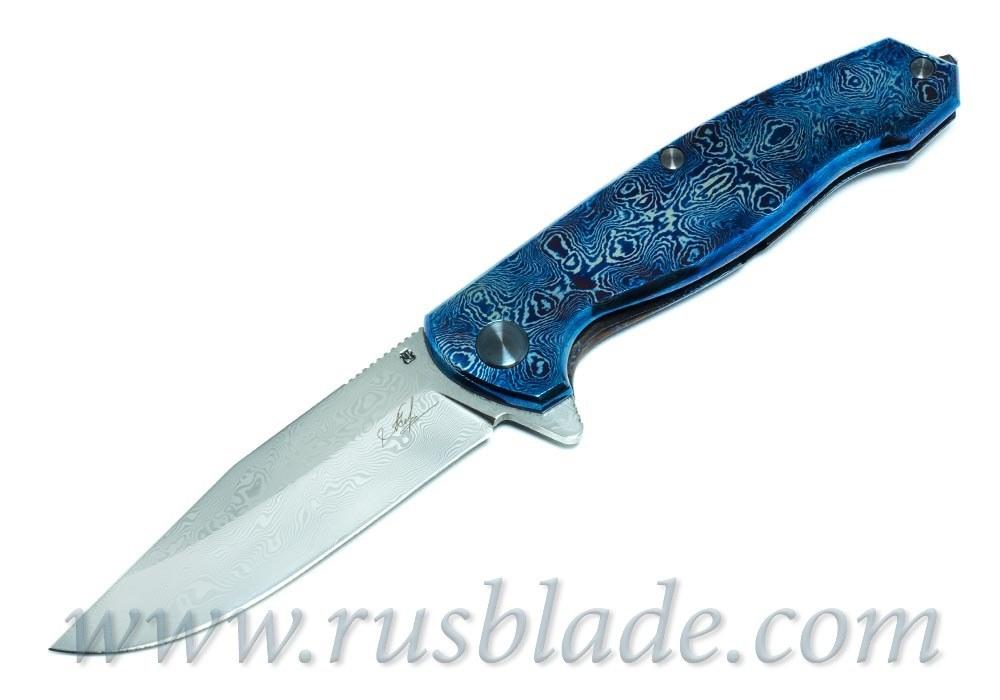 Cheburkov Custom Wolf Damascus Timascus