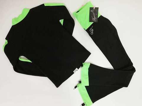 Термокомплект (черный+зеленый) XS, рост 122