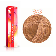 Wella Professional Color Touch 8/3 (Коньяк) - Тонирующая краска для волос