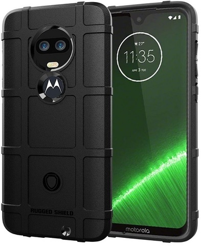 Чехол Motorola Moto G7 (G7 Plus) цвет Black (черный), серия Armor, Caseport