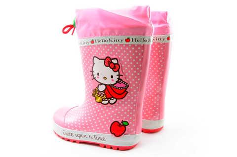 Резиновые сапоги для девочек утепленные Хелло Китти (Hello Kitty), цвет розовый. Изображение 6 из 11.