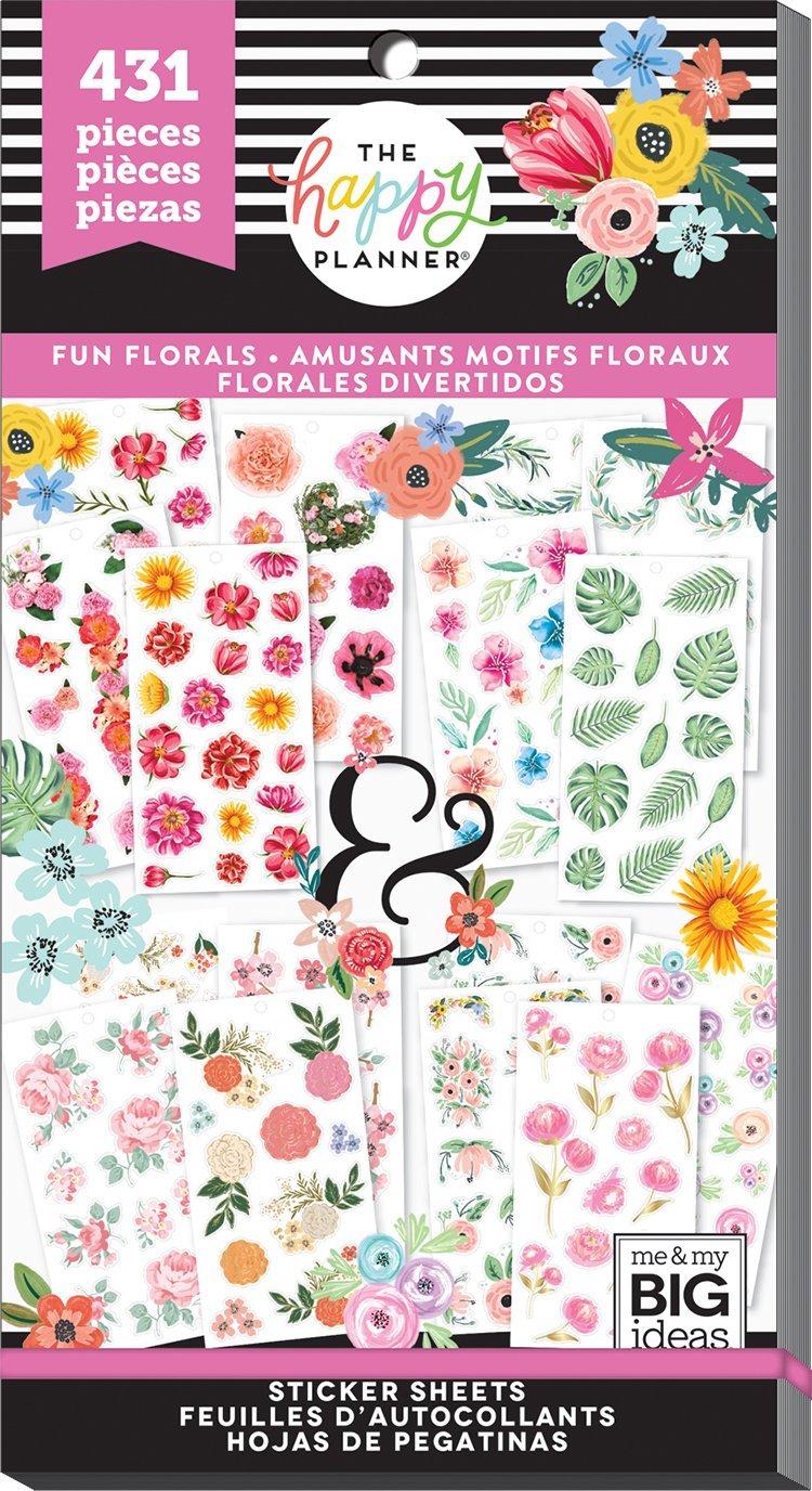 Блокнот со стикерами -Value Pack Stickers - FUN FLORALS - 431 шт