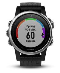 Беговые часы Garmin Fenix 5s с черным ремешком