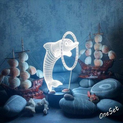Ночник Дельфин и кольцо