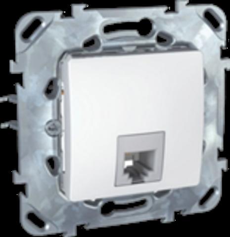 Розетка Телефонная 1хRJ11. Цвет Белый. Schneider electric Unica. MGU5.492.18ZD