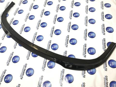 Сплиттер (юбка, губа) переднего бампера на Лада Приора 2, без перемычки