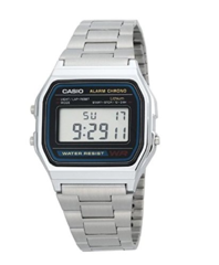 Часы Casio Men's Digital Watch with Stainless Steel Bracelet A158WEA-1EF