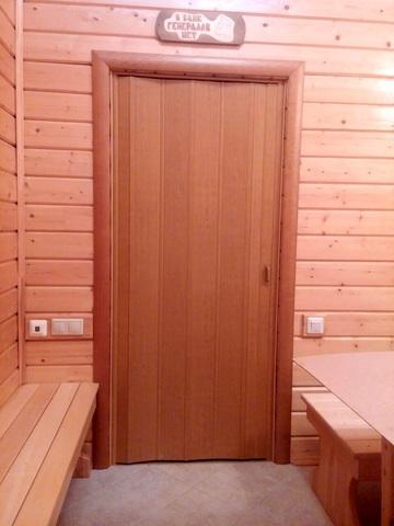 Дверь гармошка, цвет груша