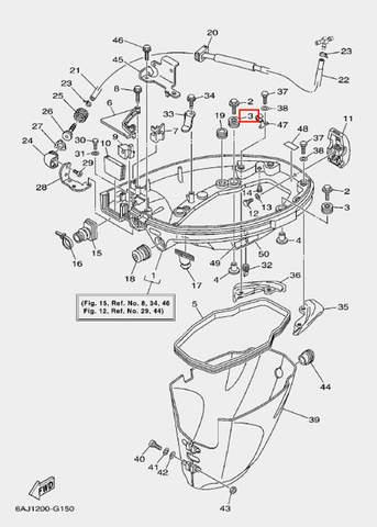 Втулка демпферная для лодочного мотора F20 Sea-PRO (15-3)