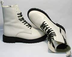 Зимние ботинки женские кожаные с мехом Ari Andano 740 Milk Black.