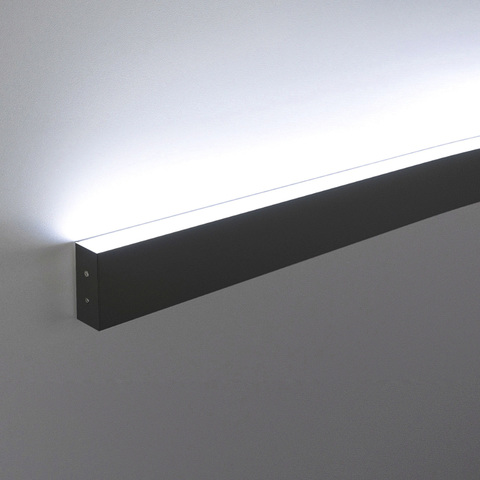 Линейный светодиодный накладной односторонний светильник 103см 20Вт 3000К черная шагрень LS-02-1-103-3000-MSh