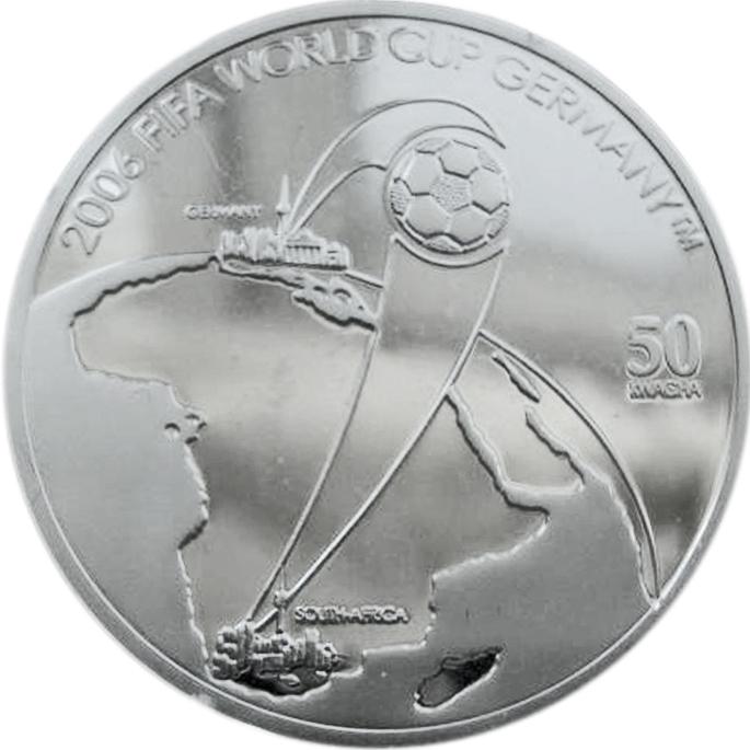 50 квача. Футбол Чемпионат мира по футболу Германия 2006 г. Малави. 2006 г. Серебро