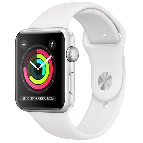Watch S3 42mm Silver Al/White Sport Band -РОСТЕСТ-
