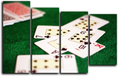 """Модульная картина """"Карты в покере"""""""