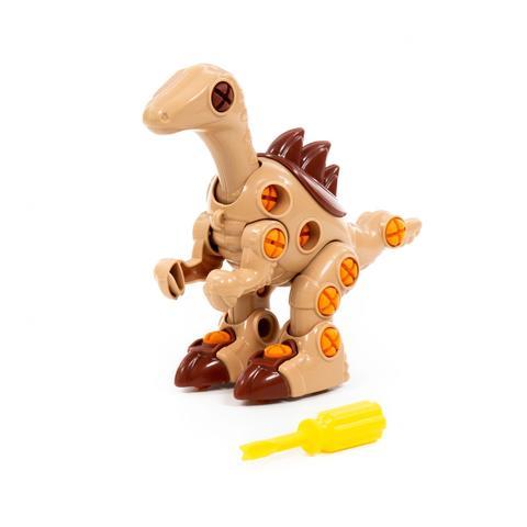 Конструктор-динозавр 36дет Велоцираптор в пакете