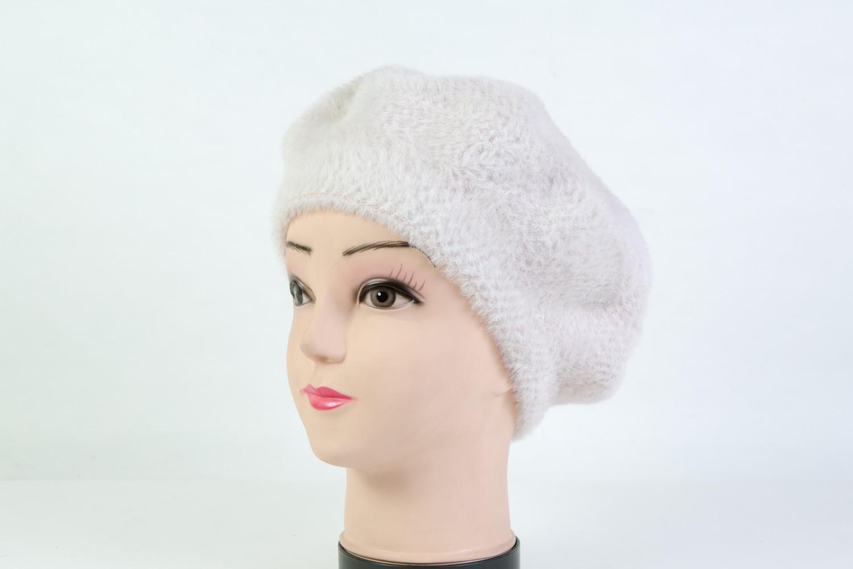 Женская шапка берет белая B9082D white