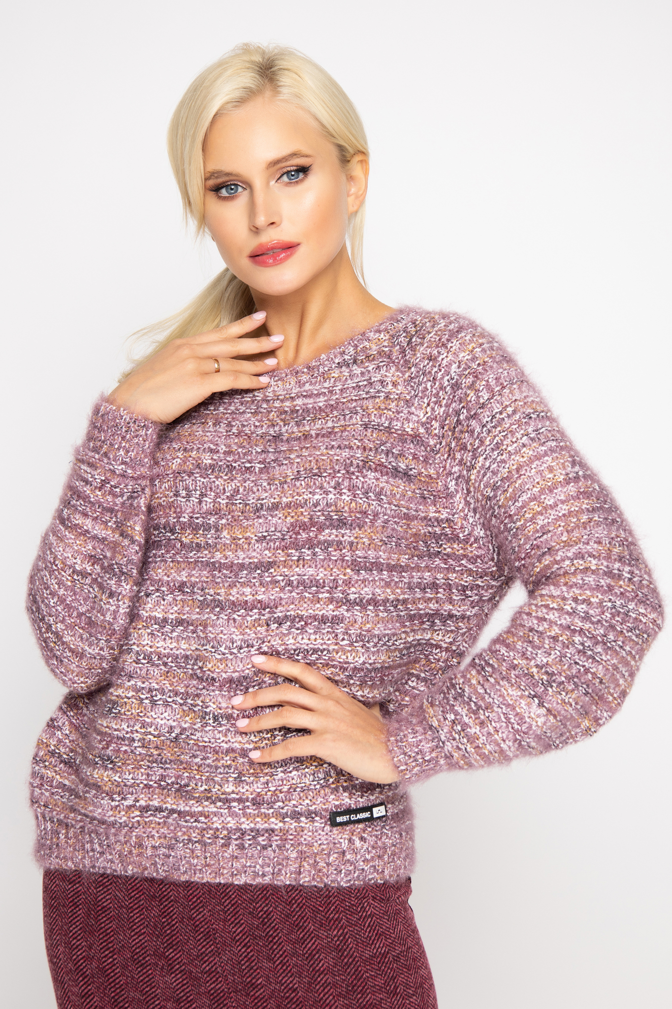 """Пуловер """"Ясмина"""" (вишня)"""