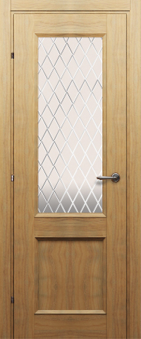 Дверь Краснодеревщик ДО 3324, цвет орех бискотто, остекленная