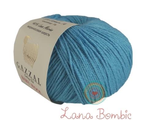 Пряжа Gazzal Baby Wool бирюза 820