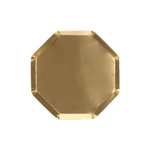 Тарелки золотые