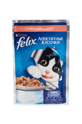 Felix кусочки в желе для кошек (лосось) 85 г