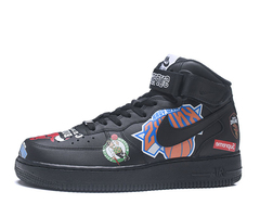 Supreme x NBA x Nike Air Force 1 Mid 'Black'