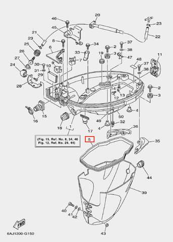 Уплотнитель поддона для лодочного мотора F20 Sea-PRO (15-5)