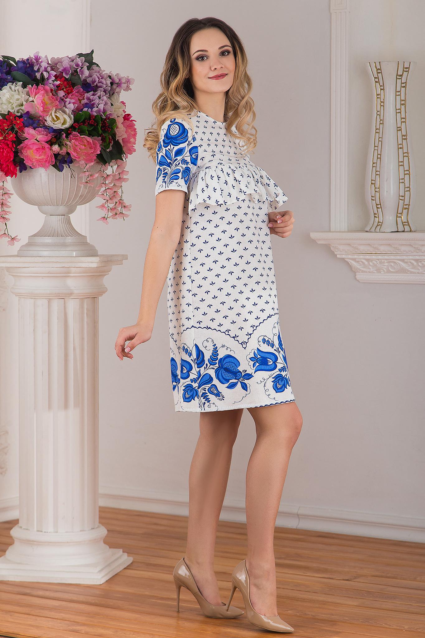 Платье льняное Забава вид сбоку