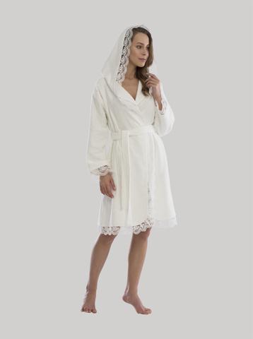 CARMEN махровый  женский халат с капюшоном Tivolyo Home (Турция)