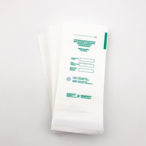 Крафт-пакеты 75x150мм из белой бумаги