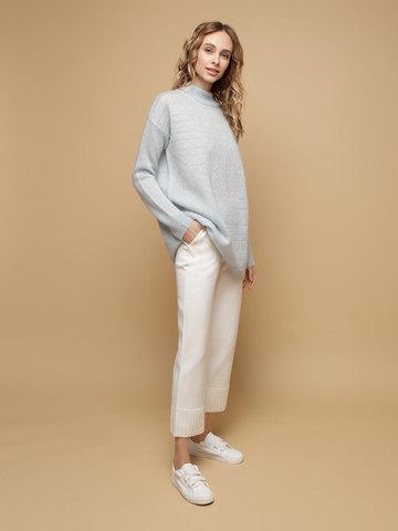 Женские брюки белого цвета из шерсти - фото 2